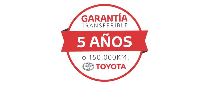 Garantía Toyota 150.000 km o 5 años