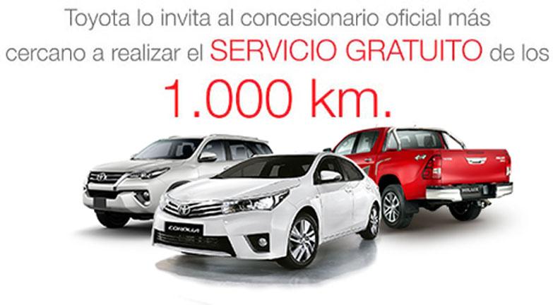 Toyota Sarthou Buenos Aires Servicio Gratuito de los 1000Km
