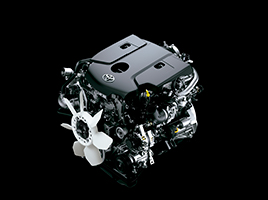 Nuevos motores Toyota: Dos alternativas diesel con turbo de geometría variable, 1GD (2.8 L) y 2GD (2.4 L).