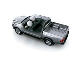 7 Airbags: Frontales y laterales para el conductor y el acompañante, de rodilla para el conductor y de cortina en ambos lados.