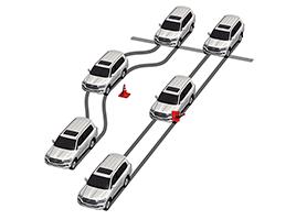 ABS Multi- Terrain con distribución electrónica de la fuerza de frenado (EBD), asistente de frenado de emergencia (BA)  y luces de frenado de emergencia.