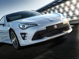 Toyota 86. Vista frontal.