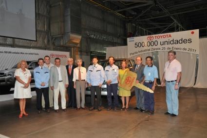 TOYOTA ARGENTINA produjo la unidad número 500.000…