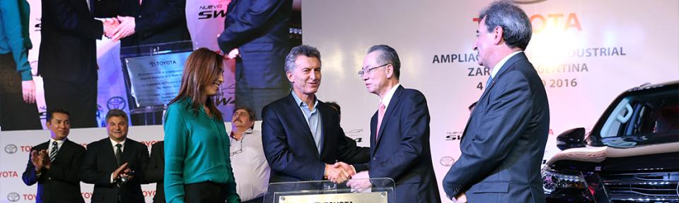 Toyota inauguró las obras de ampliación de su planta…