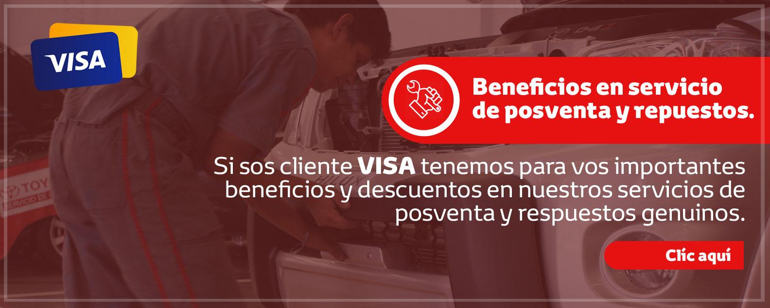 Promoción Posventa con tarjeta de crédito VISA
